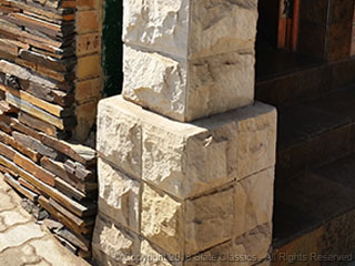 Sandstone tile cladding