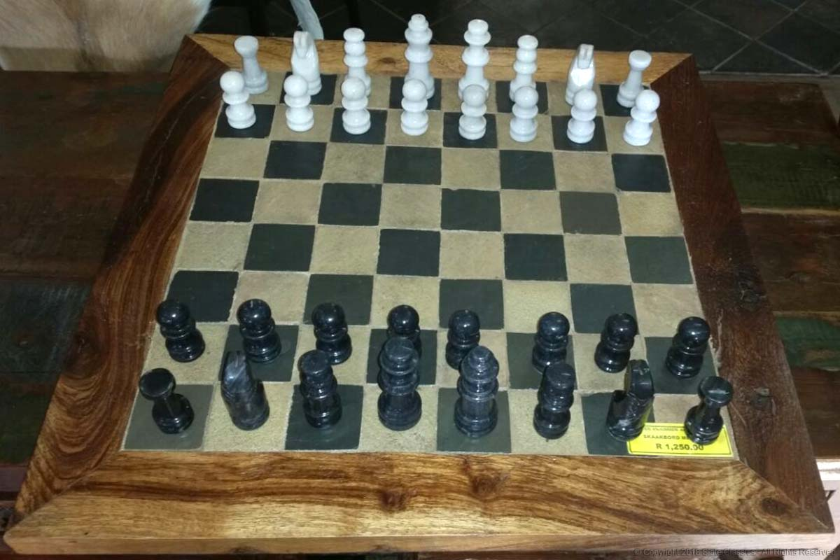 Sandstone & Midnight slate chess board