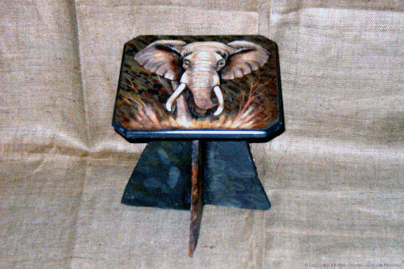 Painted slate coffee table