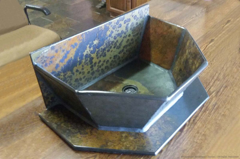 Slate basin with stand (isometric view)