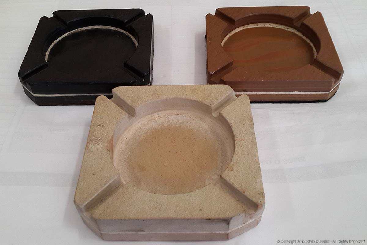 Squire slate & sandstone ashtrays