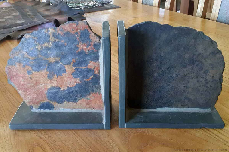 Rough slate bookends