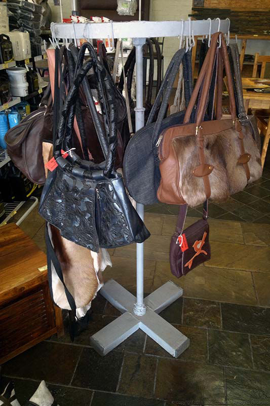 Rack of Leather apparel