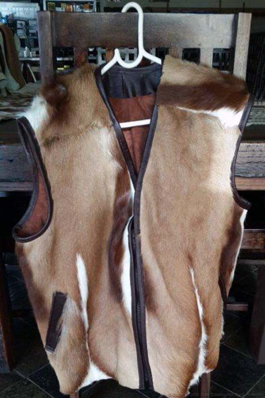 Buck skin hunting jacket