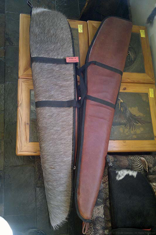 Leather & pelt rifle bags