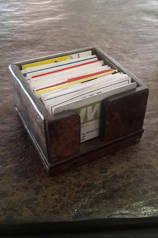 Slate made business card holder