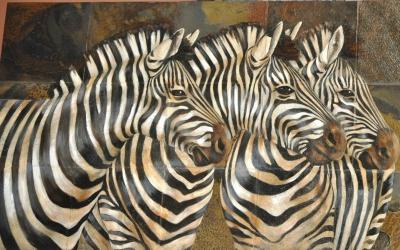 Panel zebras