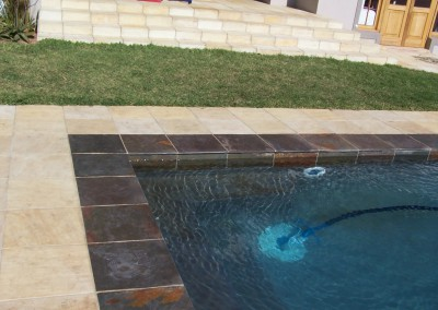 Swimming pool with Sandstone and Oyster