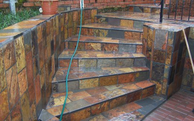 Rich Autumn Tile Steps